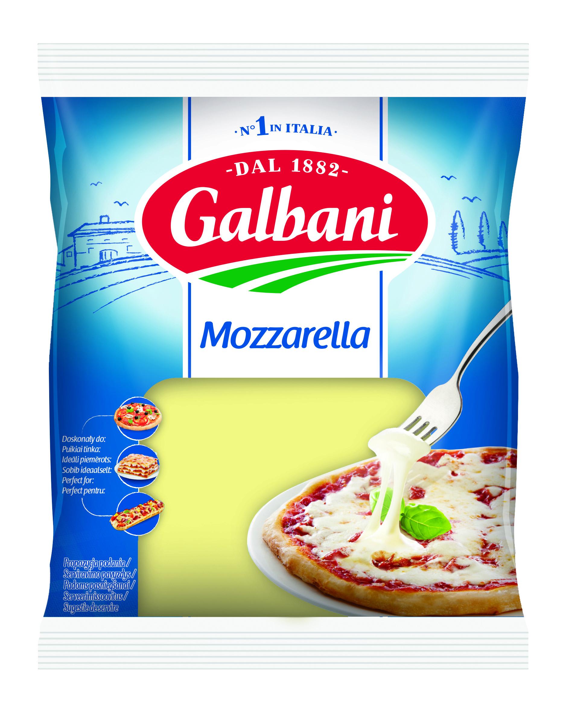 Galbani Mozzarella Blok 300g - Galbani – od ponad 130 lat dostarczamy najlepsze włoskie smaki na talerze całego świata
