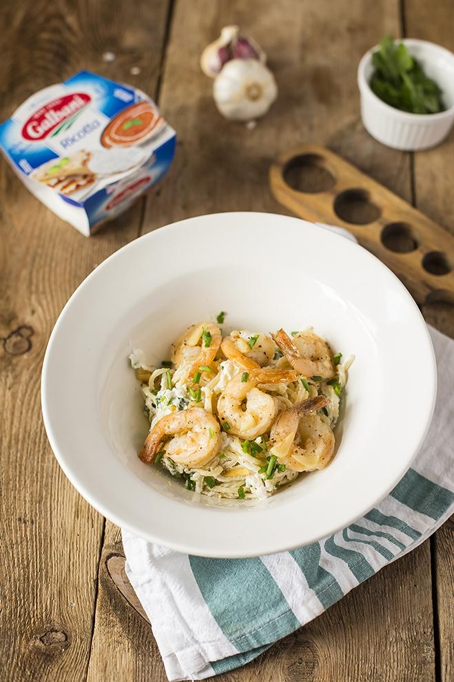 Spaghetti z ricottą Galbani i krewetkami tygrysimi - Galbani – od ponad 130 lat dostarczamy najlepsze włoskie smaki na talerze całego świata