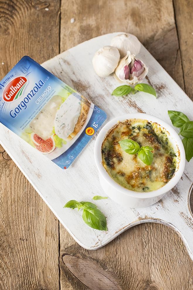 Makaron z gorgonzolą Galbani i szpinakiem - Galbani