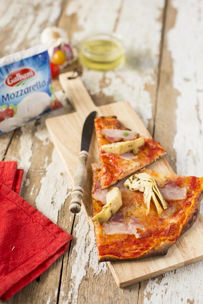 Pizza z boczkiem i karczochami - Galbani