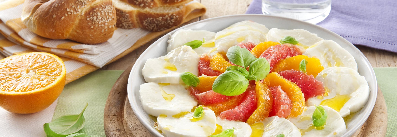 Caprese z cytrusami - Galbani – od ponad 130 lat dostarczamy najlepsze włoskie smaki na talerze całego świata