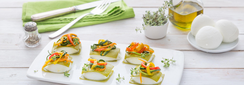 Lasagne z mozzarellą i warzywami - Galbani