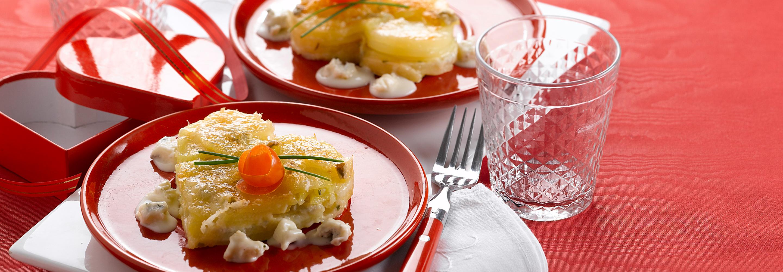 Mille-Feuille z ziemniakami i Gorgonzolą - Galbani