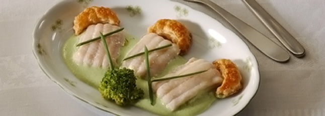 Filety z soli w kremie z brokułów - Galbani