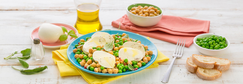 Sałatka z zielonym groszkiem i ciecierzycą - Galbani