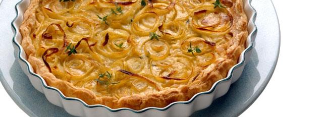Quiche z cebulą i gorgonzolą - Galbani