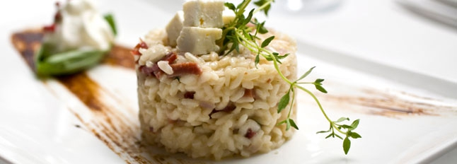 Serowe risotto z gruszkami - Galbani
