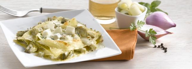 Lasagne z mozzarellą i karczochami - Galbani