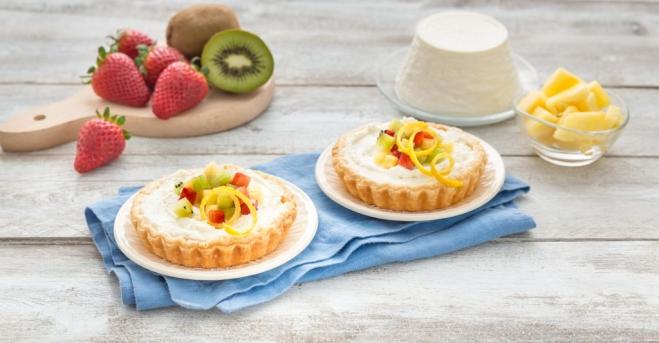 Mini tarty z Ricottą, truskawkami, ananasem i kiwi - Galbani