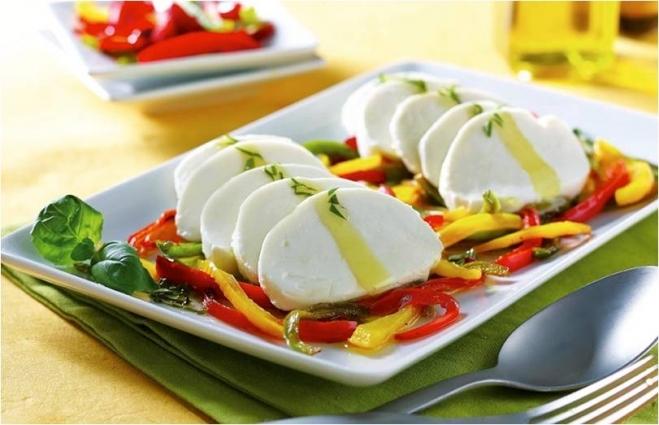 Mozzarella w trzech paprykach i bazylii - Galbani