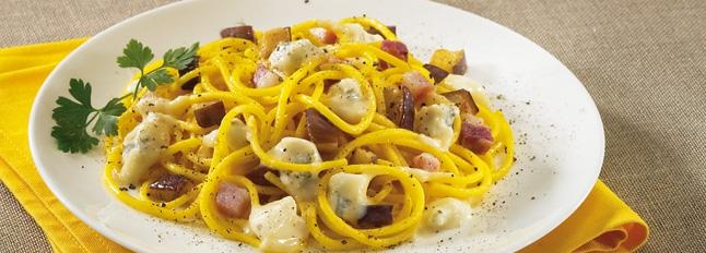 Makaron z bakłażanem i gorgonzolą - Galbani