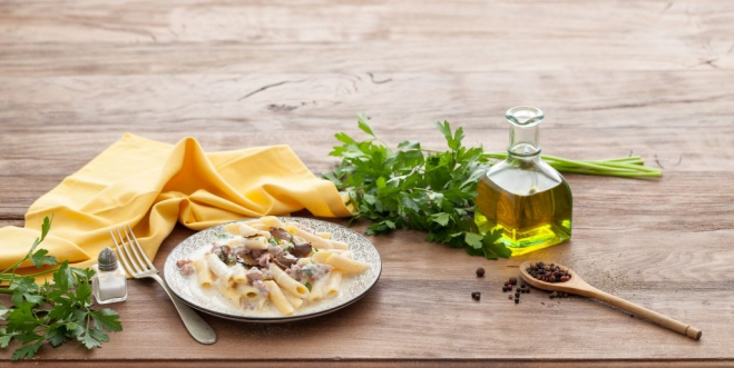 Makaron z Ricottą, truflami i kiełbasą - Galbani – od ponad 130 lat dostarczamy najlepsze włoskie smaki na talerze całego świata