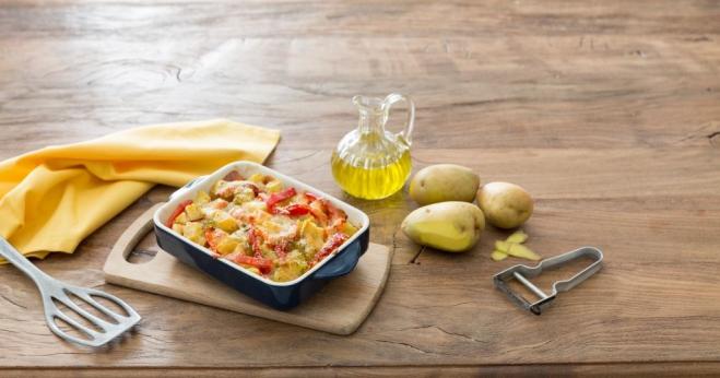 Pieczona papryka z ziemniakami i mozzarellą - Galbani