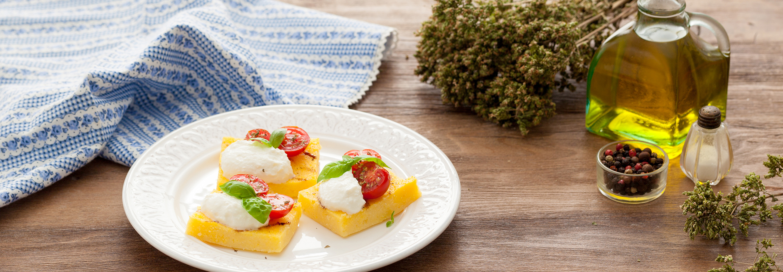 Grillowana polenta z ricottą - Galbani