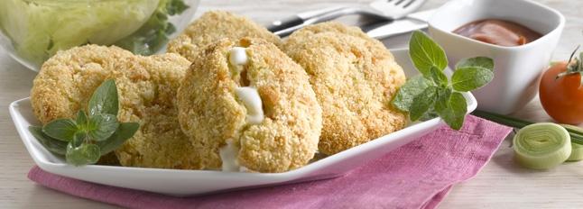 Łosoś, ziemniaki i kotleciki z mozzarelli - Galbani