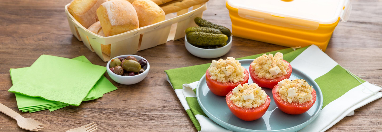 Pomidory nadziewane kuskusem i mozzarellą - Galbani