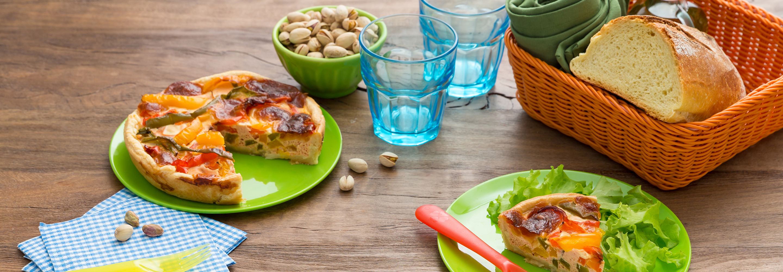 Quiche z mozzarellą i papryką - Galbani