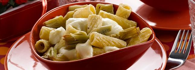 Serowe rigatoni w sosie karczochowym - Galbani