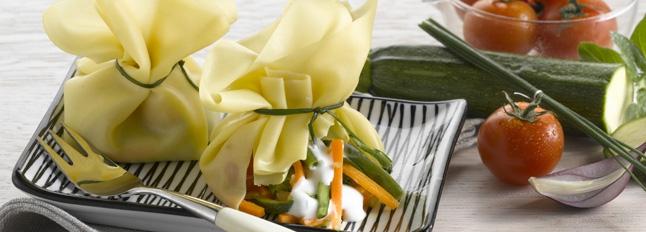 Sakiewki z warzywami i mozzarellą - Galbani