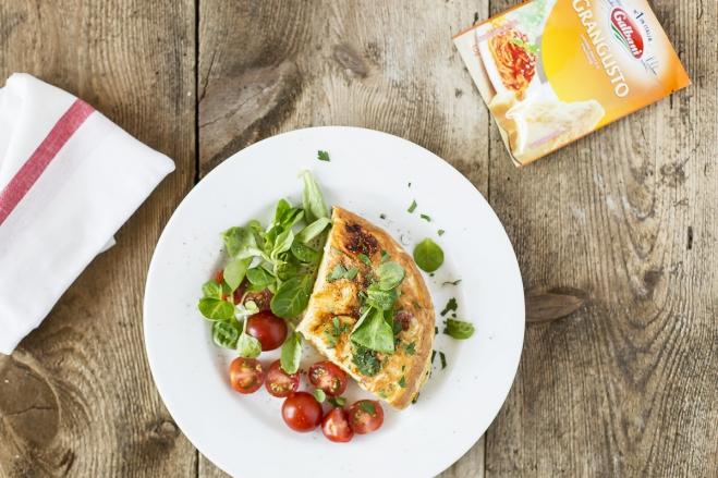 Omlet z makaronem - Galbani