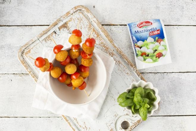 Szaszłyki ze smażonej mozzarelli Galbani - Galbani