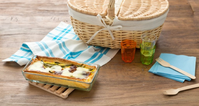 Quiche z mozzarellą i fasolką - Galbani