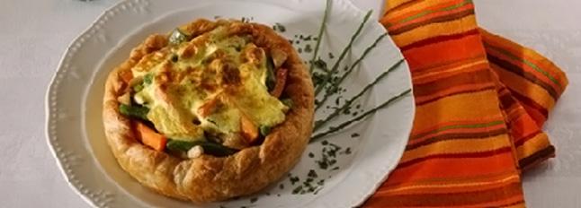 Warzywna quiche z pysznym zabajone - Galbani