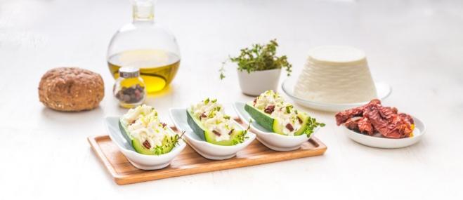 Cukinia nadziewana ricottą, pistacjami i suszonymi pomidorami - Galbani