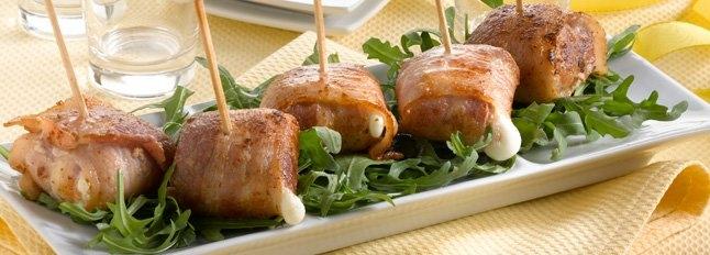 Przekąski z mozzarelli i wędzonego boczku - Galbani
