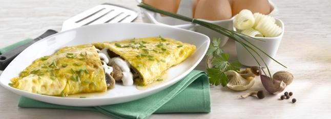 Omlet z pieczarkami i mozzarellą - Galbani
