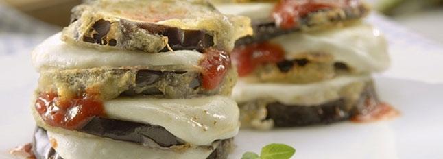 Bakłażany przekładane mozzarellą - Galbani